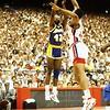 508 WORTHY, JAMES 1988 NBA FINALS GAME 3 VS DETROIT MAHORN