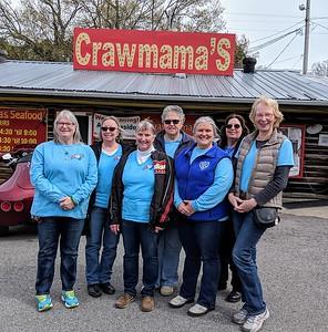 Tennessee ladies: Sandra Widemyer, Christine Ramos, Bev Woods, Debra Burkett, Julie Livingood, Angie Geaves, Mabel Shaffer