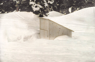 Privy in the snow.