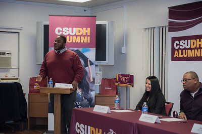 CSUDH Alumni Career Chat at the university student housing March 2016