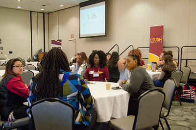 4th Annual Women's Conference with Dr. Gretel Vera-Rosas 2017 CSUDH in the loker student union, Alumni Speed Mentoring