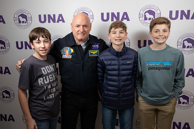 Astronaut and U.S. Navy Captain Scott Kelly spoke in Flowers Hall as a part of the Distinguished Event Series hosted by Advancement on February 18, 2020. Photographed by Leah T. Johnson