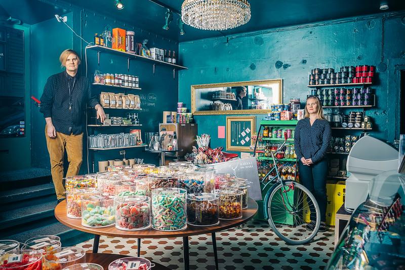 People at Work project, Roobertin Herkku Candy shop @ Helsinki 2015
