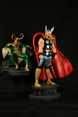 Bowen Designs Thor Odin and Loki Statues