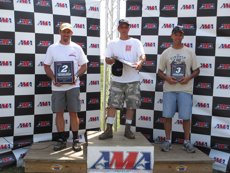 AMA Vintage Grand Championships July 21-22, 2012 at Mid-Ohio Sports Car Course in Lexington, Ohio. Photo courtesy of the AMA.