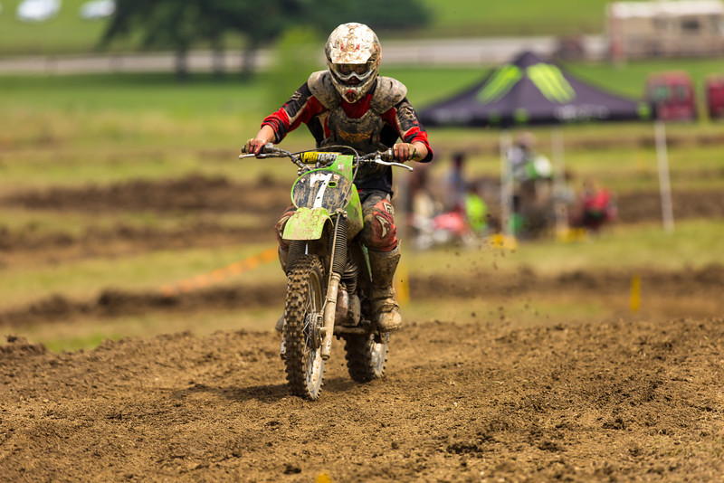"""AMA Vintage Grand Championships, Mid-Ohio Sports Car Course, Lexington, Ohio, July 19-21, 2013. Part of the AMA Vintage Motocross and Hare Scrambles National Championship Series. Photo by <a href=""""http://www.maysphotos.com"""">Corey Mays</a>, courtesy of the American Motorcyclist Association."""