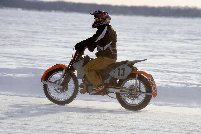 """2015 AMA Ice Race Grand Championship on Lake Koshkonong at the Oaklawn Academy in Edgerton, Wis. Photo by <a href=""""http://www.mikesmotofoto.com"""">Mike Barton</a> for the American Motorcyclist Association."""