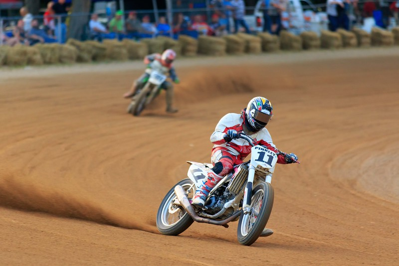 "2015 AMA Vintage Dirt Track National Championship Series: Round 9. July 11, 2015 at the Ashland County Fairgrounds in Ashland, Ohio. Photo by <a href=""http://www.electriceyeimages.com"">Joseph Hansen/Electric Eye Images</a> for the American Motorcyclist Association."