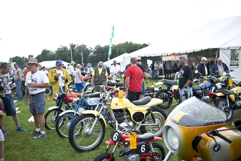 2013 BikeBandit.com AMA Vintage Motorcycle Days, presenting the riders and champions of Husqvarna. July 19-21, 2013 at Mid-Ohio Sports Car Course in Lexington, Ohio. Photo by Yve Assad, courtesy of the AMA.