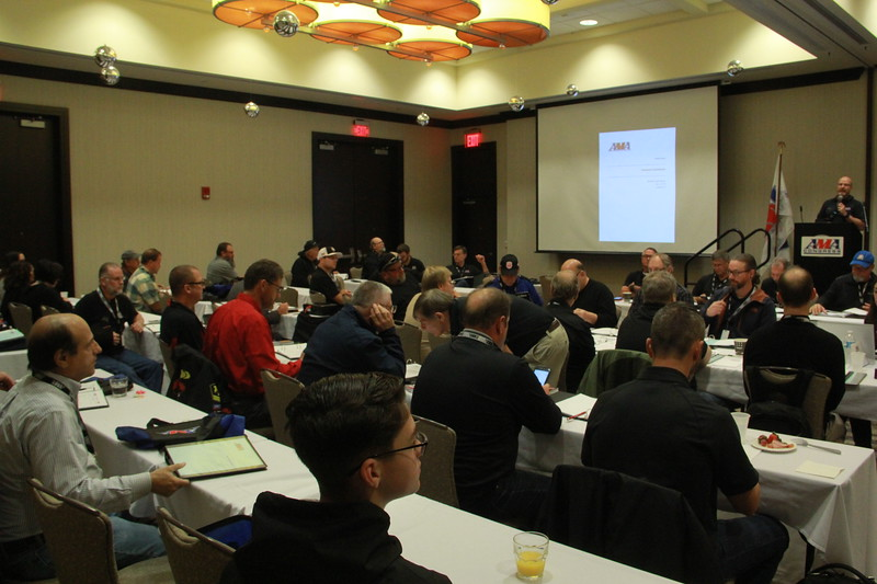 AMA Director of Racing Kevin Crowther addresses the Technical Commission at 2018 AMA Congress (credit: Samantha Laderer/AMA)