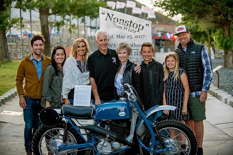 2018 AMA Dud Perkins Lifetime Achievement Award winner, the late Tom White (black shirt) with his family.