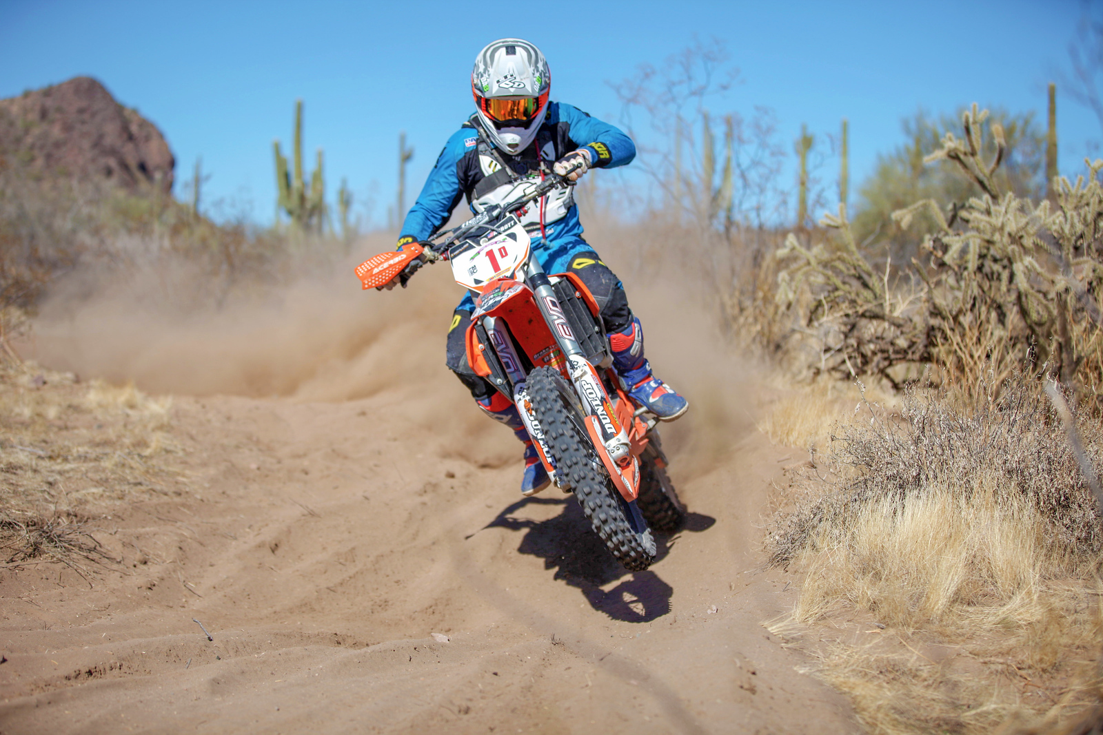 2018 U.S. ISDE Club Team rider Destry Abbott competing at Round One of the 2018 AMA International Six Days Enduro West Qualifier Series in Wickenburg, Ariz. (credit: MJS Motophotos)