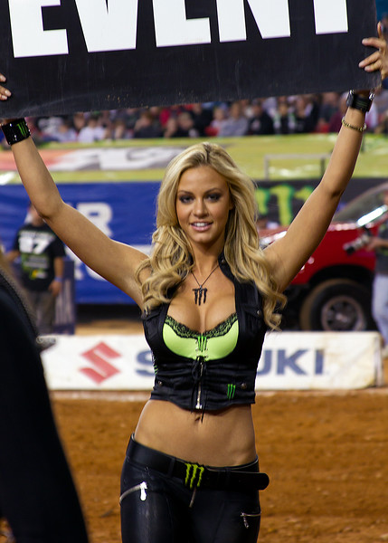 Monster Energy Drink Girl Atlanta AMA Supercross Georgia Dome Main Event