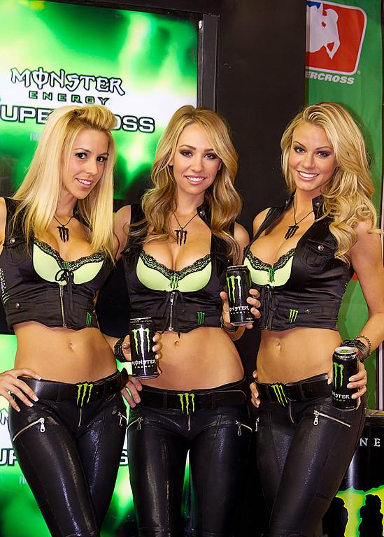 Monster Energy Drink Girls Atlanta AMA Supercross at the Georgia Dome