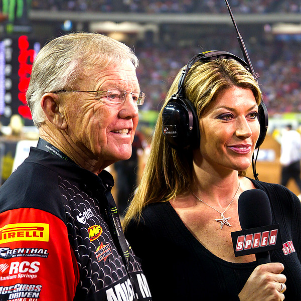 Joe Gibbs and Speed's Erin Bates AMA Supercross Atlanta