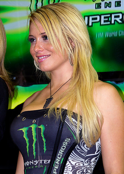 Monster Energy Drink Girl Atlanta AMA Supercross Georgia Dome February 2011