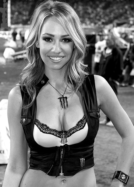 Monster Energy Drink Girl Atlanta Black and White