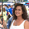 Lovely Umbrella Girl on Grid Barber