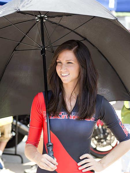 NextMoto Champion Umbrella Girl Fan Walk
