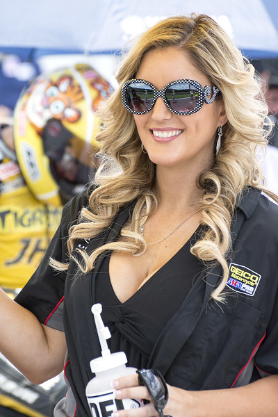 Gonzales Motorsports Heroic Racing Umbrella Girl on Grid