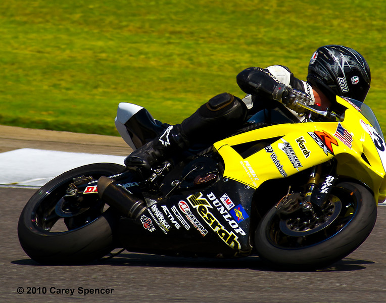James Dellinger during AMA Pro Supersport Race 1 at Barber Motorsports Park, Alabama