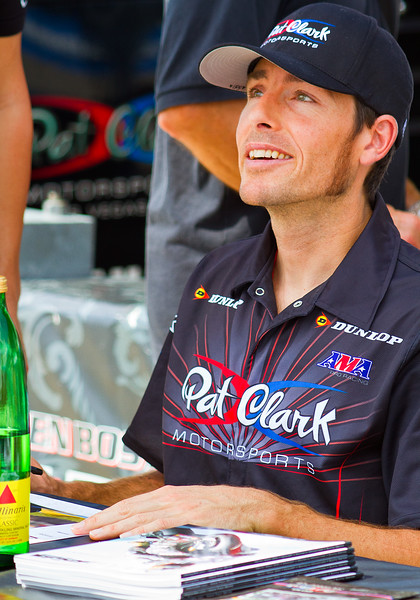 Pro Motorcycle Racer Ben Bostrom racing for Pat Clark Motorsports.
