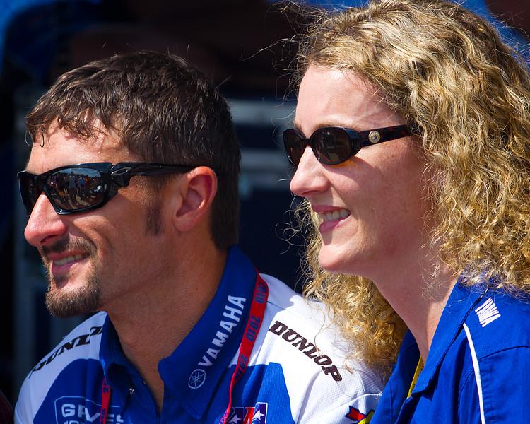 Josh Hayes prior to 2010 AMA Championship race.