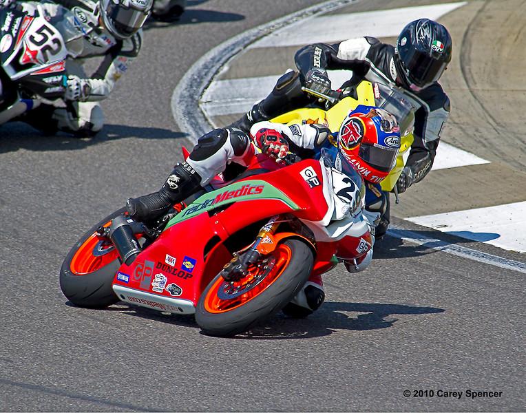 AMA Pro Supersport Rider Tyler O'Hara racing for Top Gun on his Radio Medics Yamaha YZF-R6