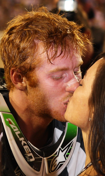 Ryan Villopoto and Fiance Celebrate Championship Sam Boyd Stadium Las Vegas