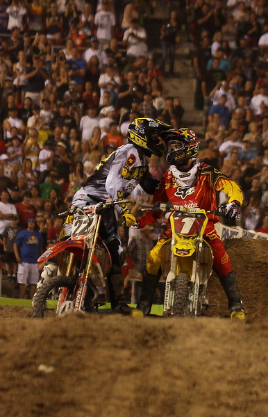 Reed and Dungey after the Championship Race AMA SX Las Vegas