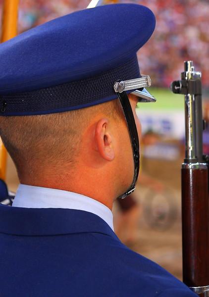 AMA SX Air Force Color Guard Las Vegas Sam Boyd Stadium