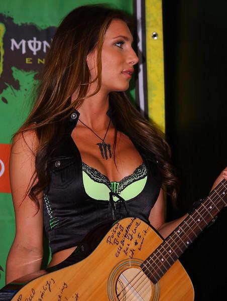 Monster Energy Girl Bret Michaels signed Guitar.