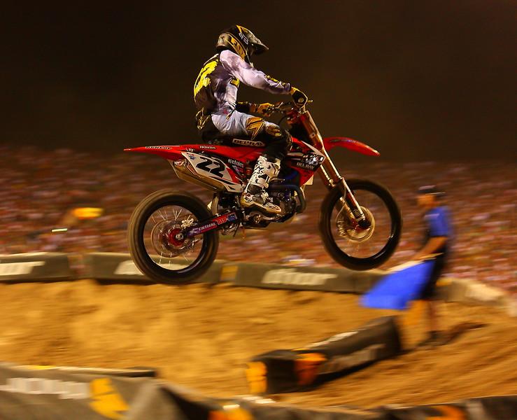 Chad Reed Airborne Winning the AMA SX Las Vegas Event