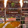 Monster Energy AMA Finish Pre-race Pyrotechnics at Cowboys Stadium