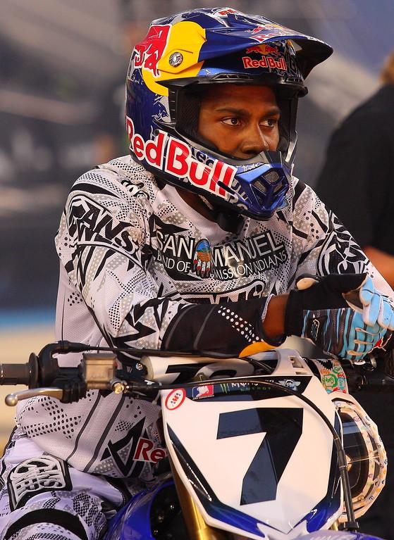 AMA SX No 7 James Bubba Stewart at Cowboys Stadium 2011