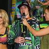 No. 15 AMA Supercross Monster Energy Drink Rider Dean Wilson on Podium Texas
