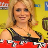 Ms. AMA Supercross Dianna Dahlgren on Podium Cowboys Stadium