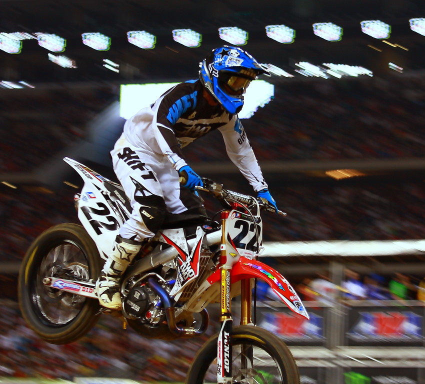 Chad Reed Airborne Monster Energy AMA Supercross Texas