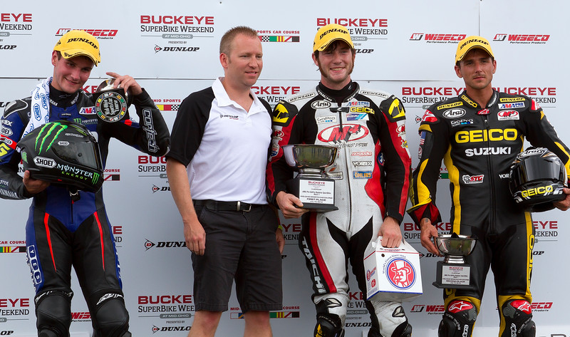 Westyby Cardenas Beaubier Saturday SportBike Podium