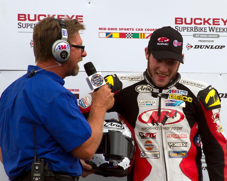Dane Westby Podium Interview Saturday Victory Daytona SportBike