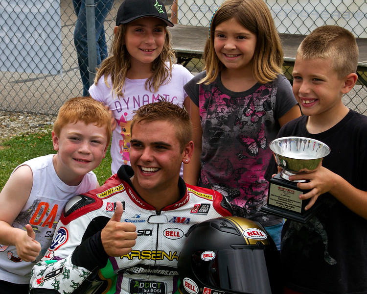 Stefano Mesa and Family of Crew Celebrate Third Place Saturday SuperSport