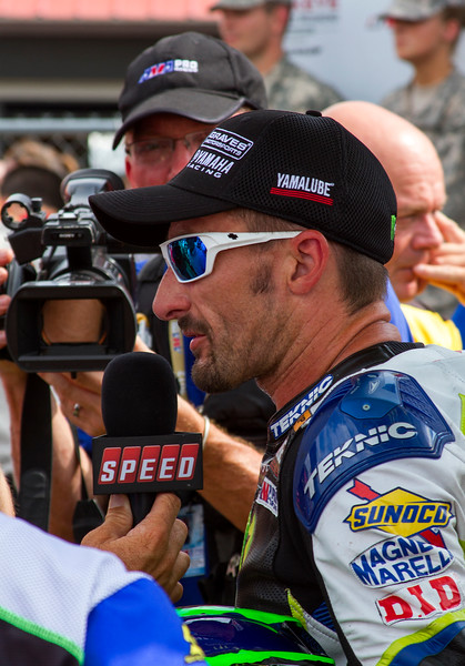 Speed Victory Lane Interview of Monster Energy Graves Yahama Josh Hayes