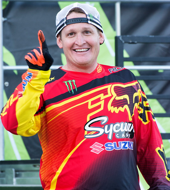 OK Ricky Carmichael no one gets to see the picture before this one