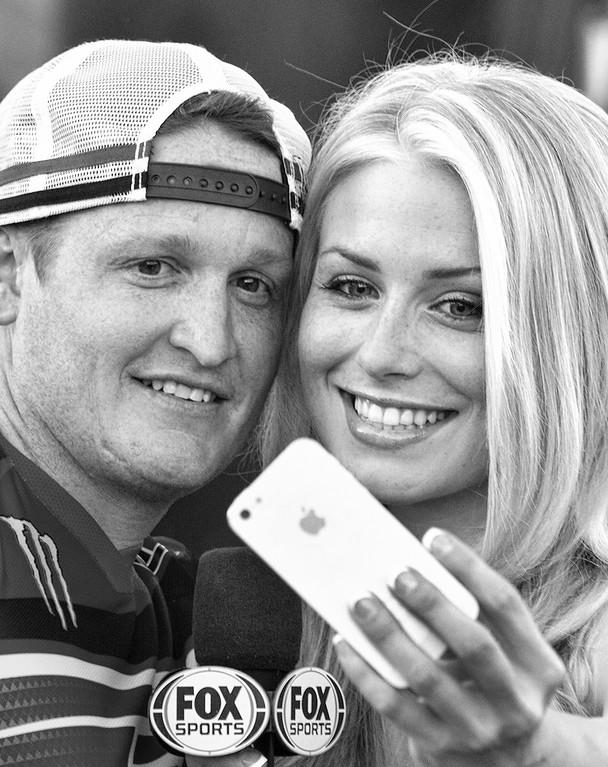 Dianna Dahlgren and Ricky Carmichael Fox Sports 2013 Monster Energy Cup