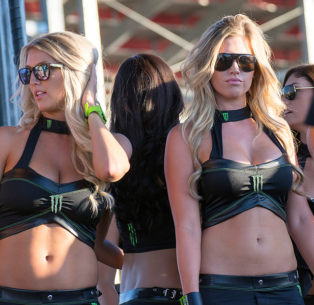 Sexy lovely Monster Energy Drink girls at Monster Cup