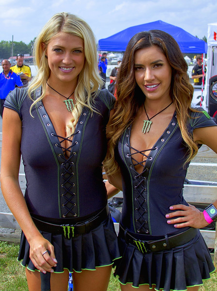 Monster Energy Drink Girls Bradi and Mercedes Pre-Race