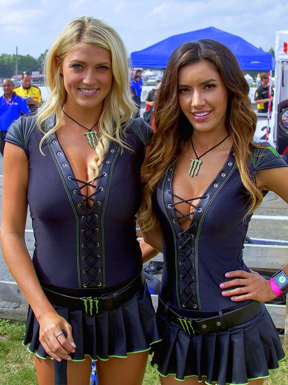 Monster Energy Drink Girls Bradi and Mercedes Pre-Race