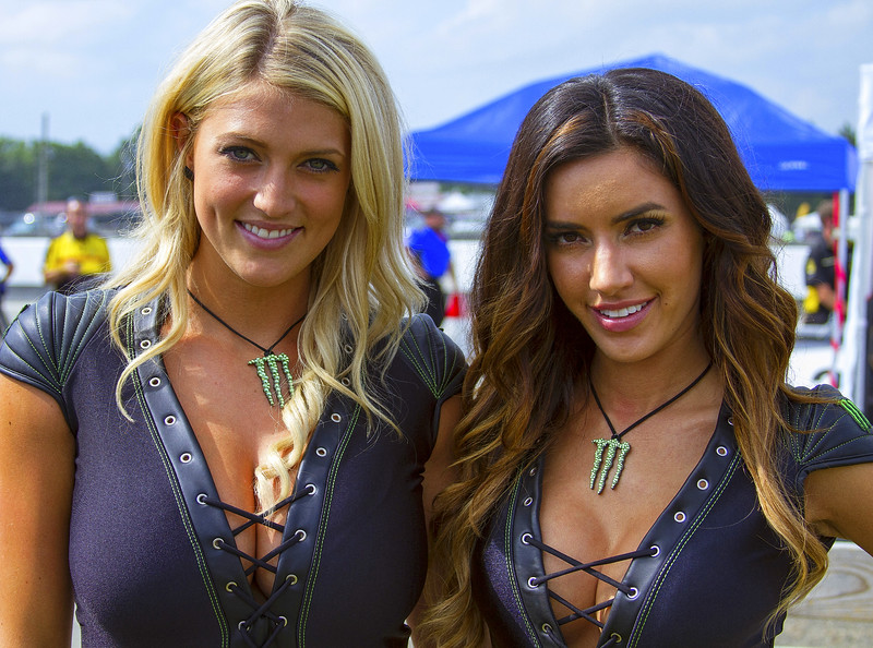 Monster Energy Drink Girls Bradi S. and Mercedes Terrell Mid-O