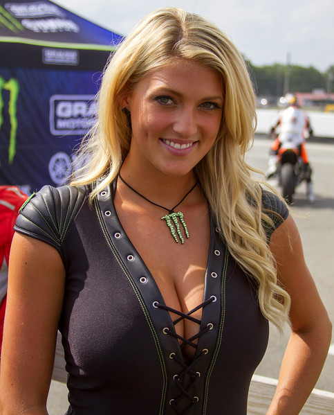 Monster Energy Drink Girl Bradi S. was all Smiles after Monster Energy Graves Yamaha Win