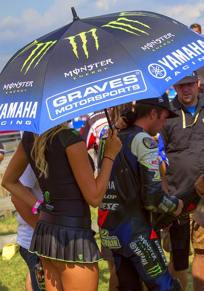 Bradi S. Shades Monster Energy Drink Graves Yamaha Josh Herrin in Victory Lane